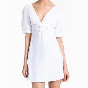 A.L.C. Mirren twist front Dress in white size 2